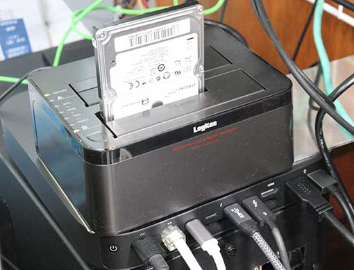ロジテック HDDスタンド LHR-2BDPU3ES 2ベイ HDDコピー機能付き